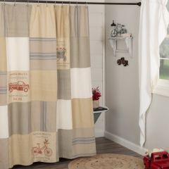 Farmhouse Patchwork Shower Curtain