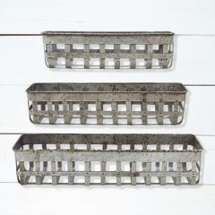 Open-Weave Iron Baskets Set of 3