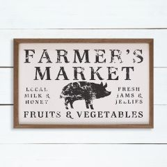 Farmers Market Fruits And Vegetables Sign