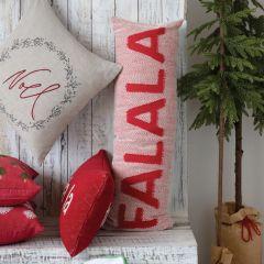 Fa La La Festive Holiday Accent Pillow