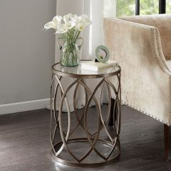 Round Eyelet Accent Table