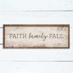 Faith Family Fall Whitewash Wall Sign