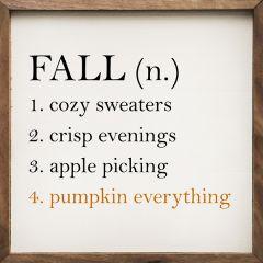 Fall Definition White Wall Art