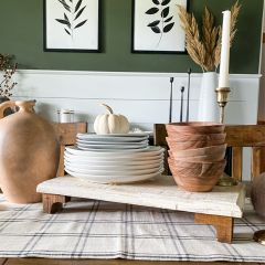 Fall Farmhouse Rustic Wood Riser