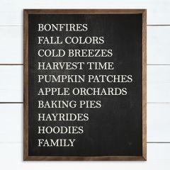 Fall Favorites Black Wall Decor