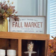 Fall Market Whitewash Wall Art