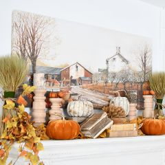Fall On The Farm Wrapped Canvas Wall Art
