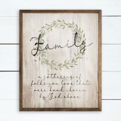 Family a Gathering of Folks Framed Wall Sign