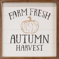 Farm Fresh Autumn Harvest Pumpkin White Sign