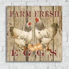 Farm Fresh Eggs Canvas Wall Art