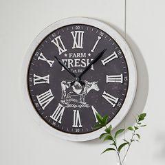 Farm Fresh Round Wall Clock