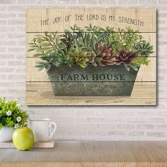 Farm House Planter Wood Pallet Wall Art