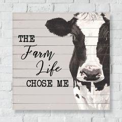 Farm Life Cow Canvas Wall Art