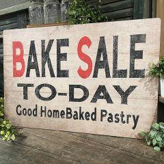 Farmhouse Bake Sale Wood Sign