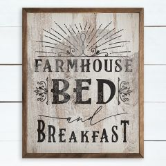 Farmhouse Bed and Breakfast Wall Art