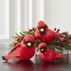 Farmhouse Cardinal Accent Figure, Set of 3