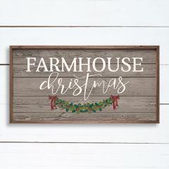 Farmhouse Christmas Framed Holiday Sign