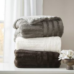 Farmhouse Classics Textured Plush Throw Blanket