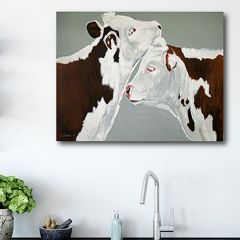 Farmhouse Cow Canvas Wall Art