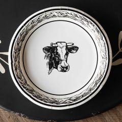 Farmhouse Cow Paper Dinner Plates Set of 12 Bundle