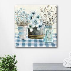 Farmhouse Floral Canvas Wall Art