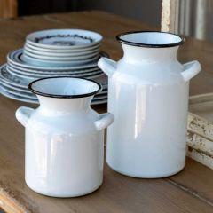 Farmhouse Milk Can Vase, 8 Inch