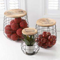 Farmhouse Nesting Basket Set of 3