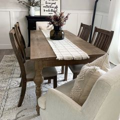 Farmhouse Rectangle Washed Caramel Table