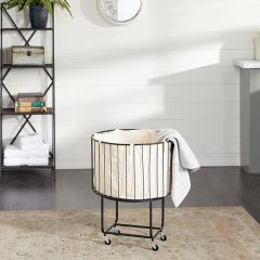 Farmhouse Rolling Storage Cart