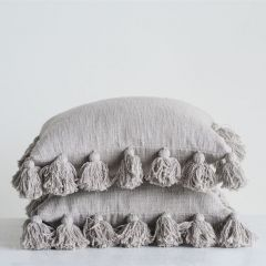 Farmhouse Tassel Edge Pillow