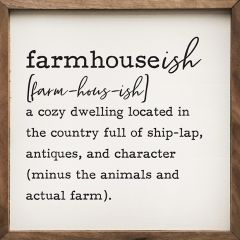 Farmhouseish Definition Wall Art
