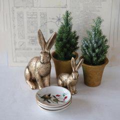Faux Fir Tree In Pot Set of 2