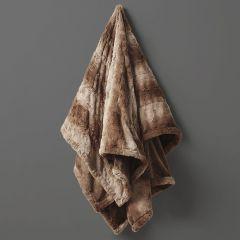 Faux Fur Heated Wrap Blanket Tan