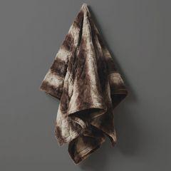 Faux Fur Heated Wrap Blanket Brown