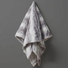Faux Fur Heated Wrap Blanket Grey