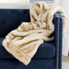 Faux Fur Plush Throw Blanket