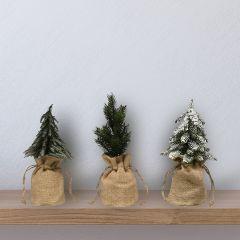 Faux Pine Tree in Bag Set of 3