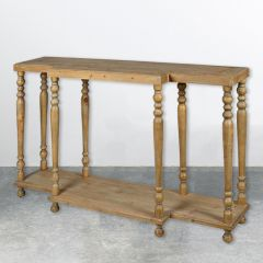 Traditional Fir Wood Console Table
