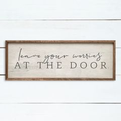 Leave Your Worries At The Door Wall Art