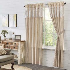 Ruffled Neutral Curtain Panel Set of 2