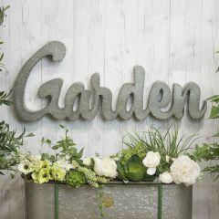 Metal Garden Word Wall Sign
