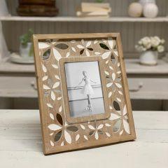 Flower Print Photo Frame