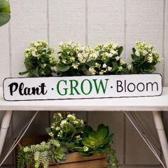 Plant Grow Bloom Garden Sign