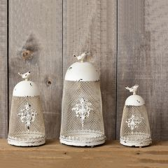 Ornate Decorative Tabletop Bird Cages Set of 3