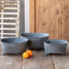 Tinwork Farmhouse Containers Set of 3