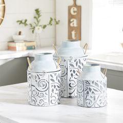 Modern Boho Handled Jar Vase Set of 3