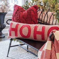 Festive Christmas Accent Pillow