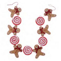 Festive Holiday Gingerbread Candy Garland