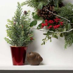 Festive Holiday Pine Tree Set of 3