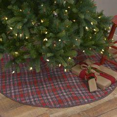 Festive Holiday Plaid Tree Skirt 48 Inch